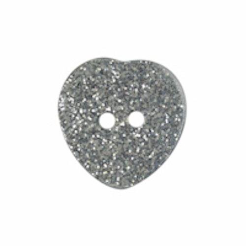Barnknapp , Glitterhjärta , 16 mm*