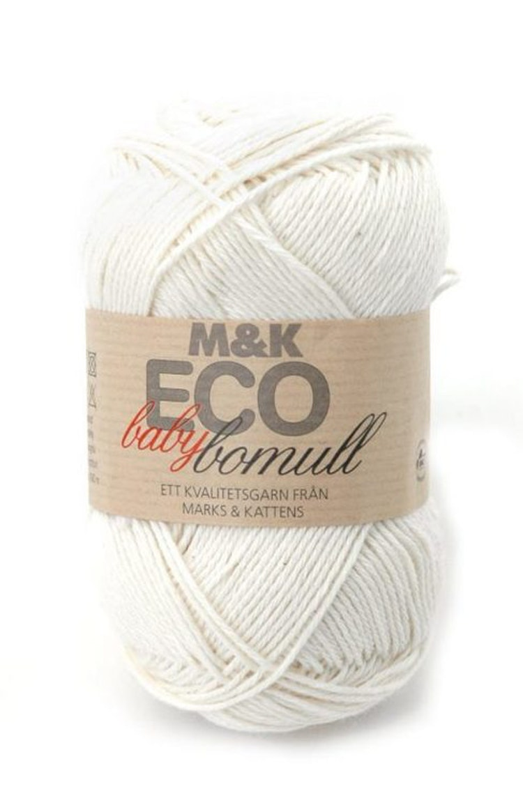 M&K Eco Baby Bomull, Offwhite