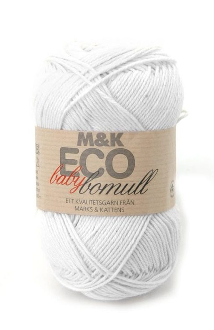 M&K Eco Baby Bomull,Vit