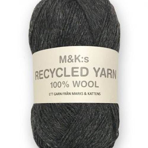 M&K Recycled Yarn, Mörkgrå