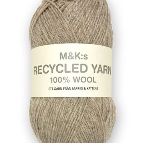 M&K Recycled Yarn, Ljusbeige