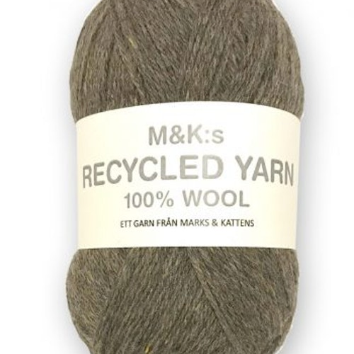 M&K Recycled Yarn, Mörkbeige