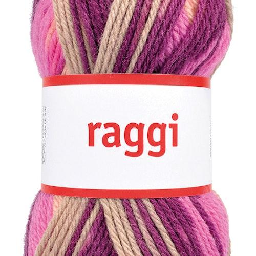 Raggi 100g Beige / Violet Batik
