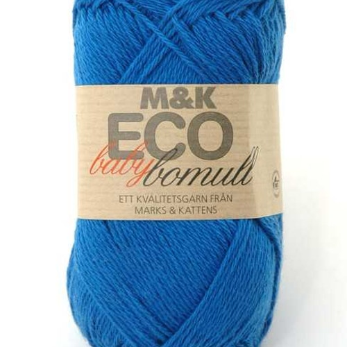 M&K Eco Baby Bomull, Klarblå