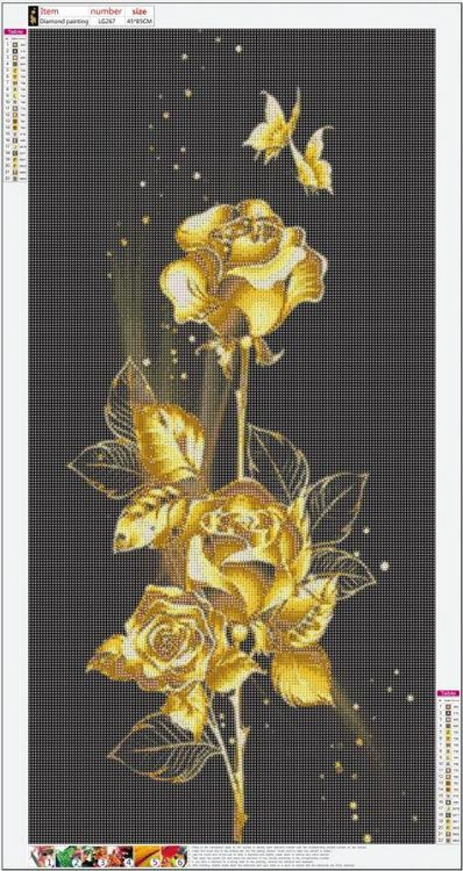 Gold Rose 85*45 cm