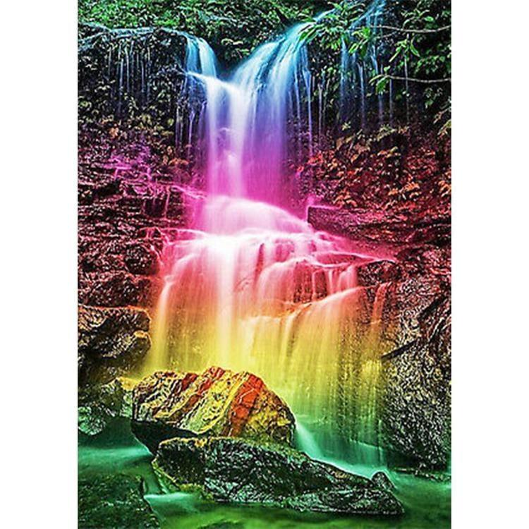 Rainbow Waterfall 85*45 cm