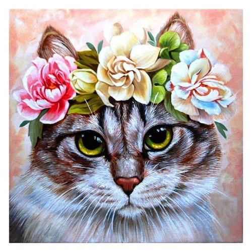 Flower Cat, 30 x30