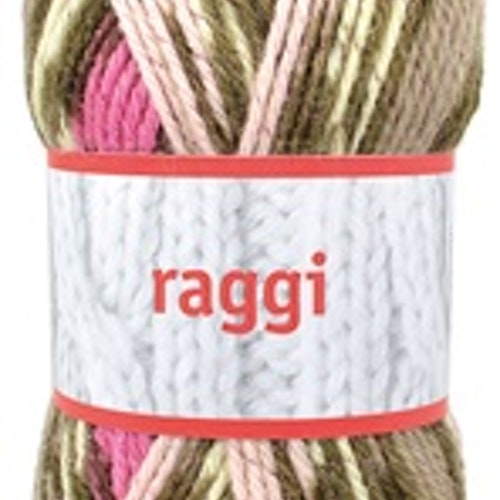 Raggi, Pink / Beige Glitter Print