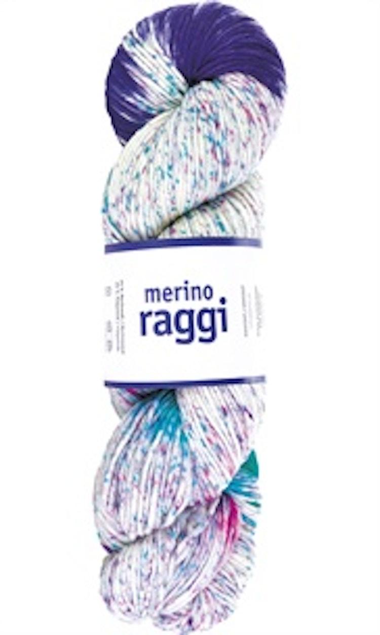 Merino Raggi, Lilac & Dark Mint