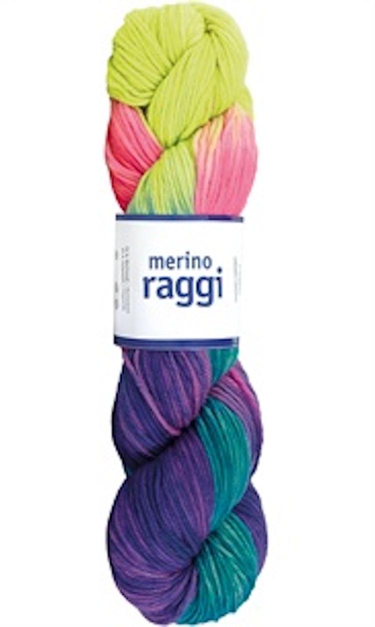 Merino Raggi, Sunny Yellow  & Neon Pink