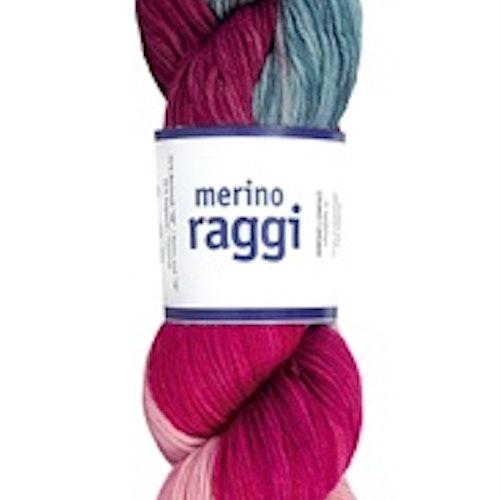Merino Raggi, Cherry Red & Soft Rose