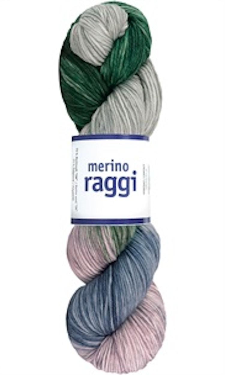 Merino Raggi, Sage & Powder Rose