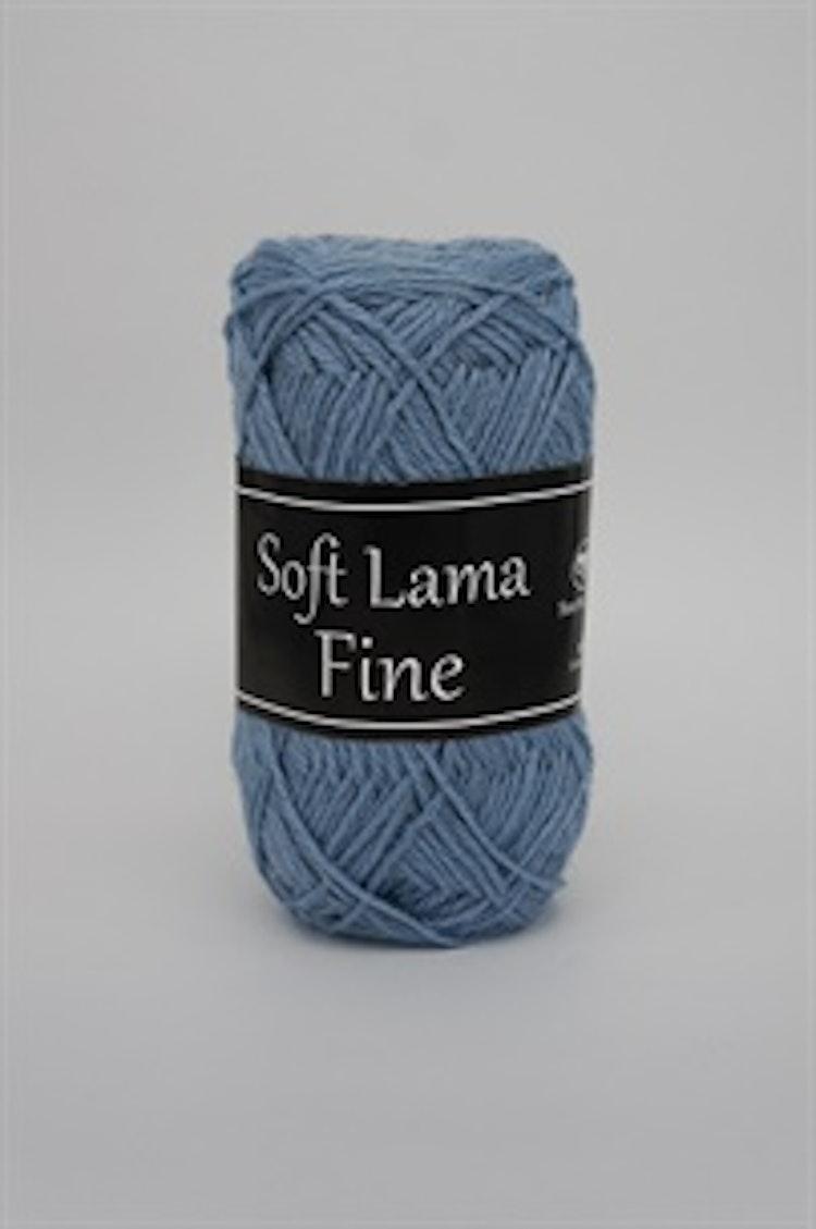Soft Lama Fine Frostblå