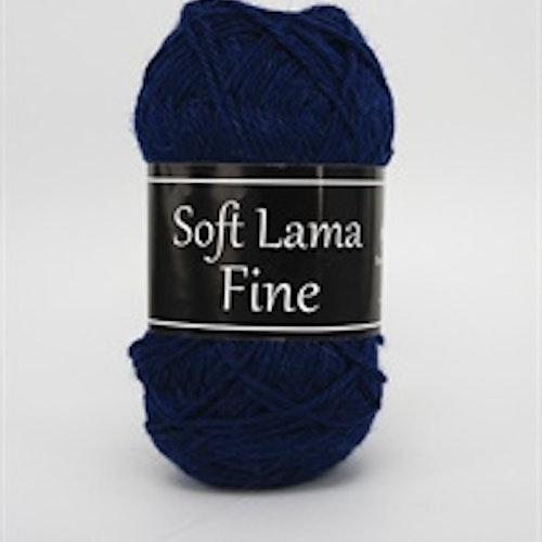 Soft Lama Fine Mörkblå