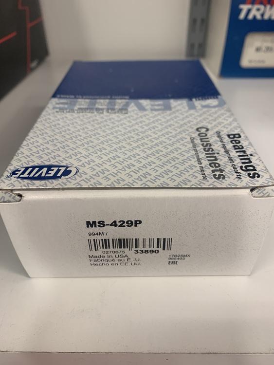 Ramlagersats MS 429P 010, 1957/67 283,302,327