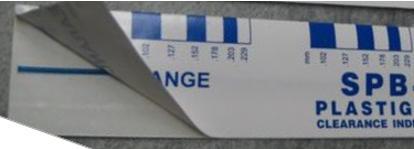 Plastigage sats 12st PB 1 För Lagerspel 0,100 - 0.230 mm