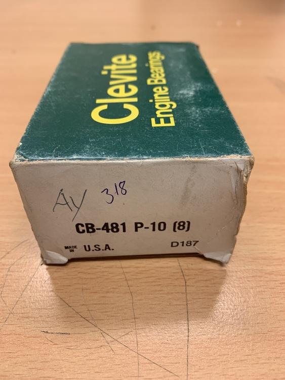 Vevlagersats CB 481P 010 273,277,301,303,318,340,360