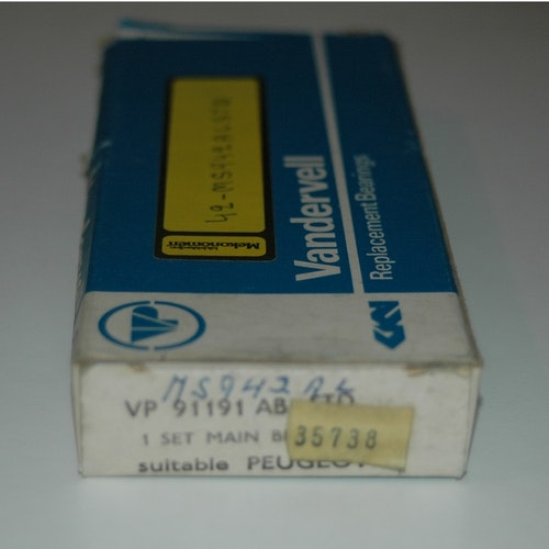 Ramlagersats VP 91191AB STD 1965/79 204,204D,304D
