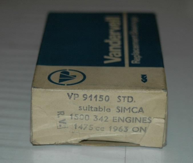 Vevlagersats VP 91150 STD 1963/72 1500, 1501