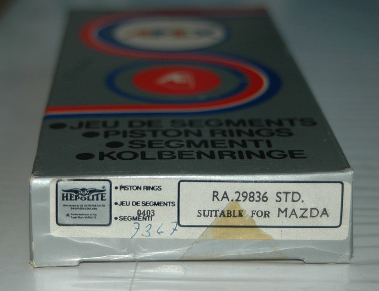 Kolvringssats RA 29836 STD 1971/79 818,323