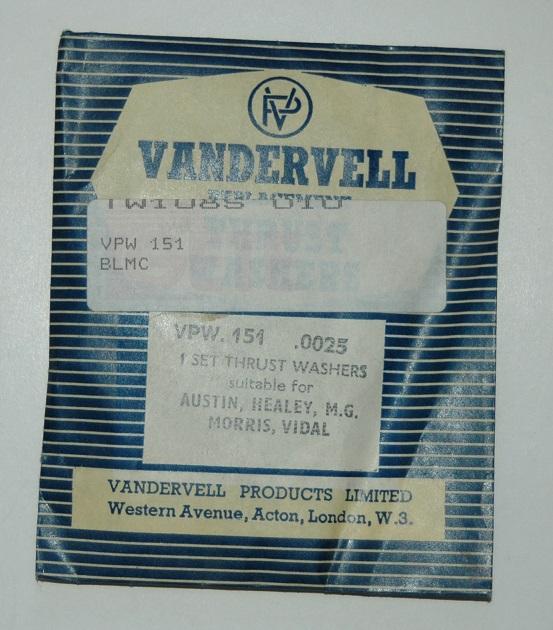 Tryckbrickor sats VPW 151 0025  1953/62 A30,A35,Minor