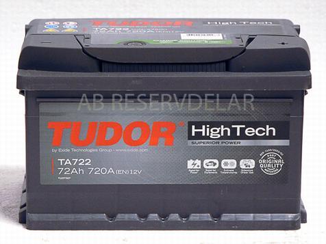 Tudor Batteri TA 722 High Tech 72Ah, 12 Volt
