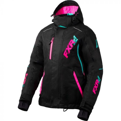 FXR Vertical Pro Skoterjacka 20 Black/Elec Pink/Min