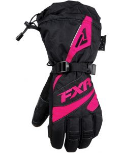 FXR Fusion Fingerhandske, Black/Fuchsia