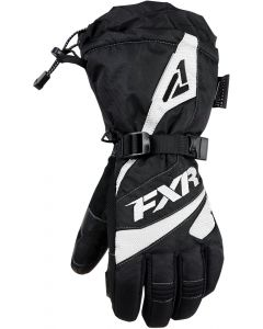 FXR Fusion Fingerhandske, Black/White