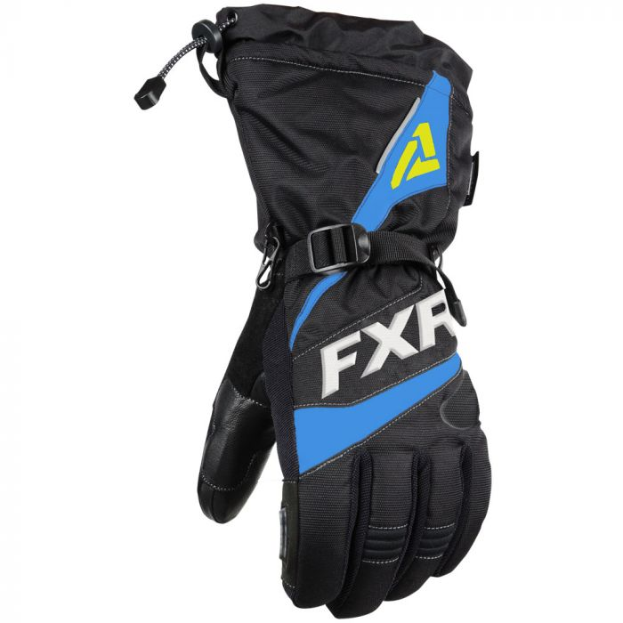 FXR Fuel Fingerhandske 20 Black/Blue/Hi Vis