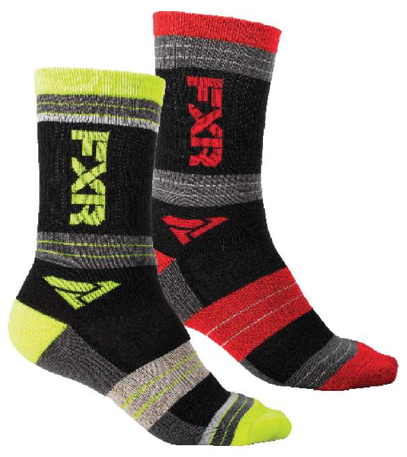 FXR Turbo Athletic Sockar (2 pack) Multi Colour