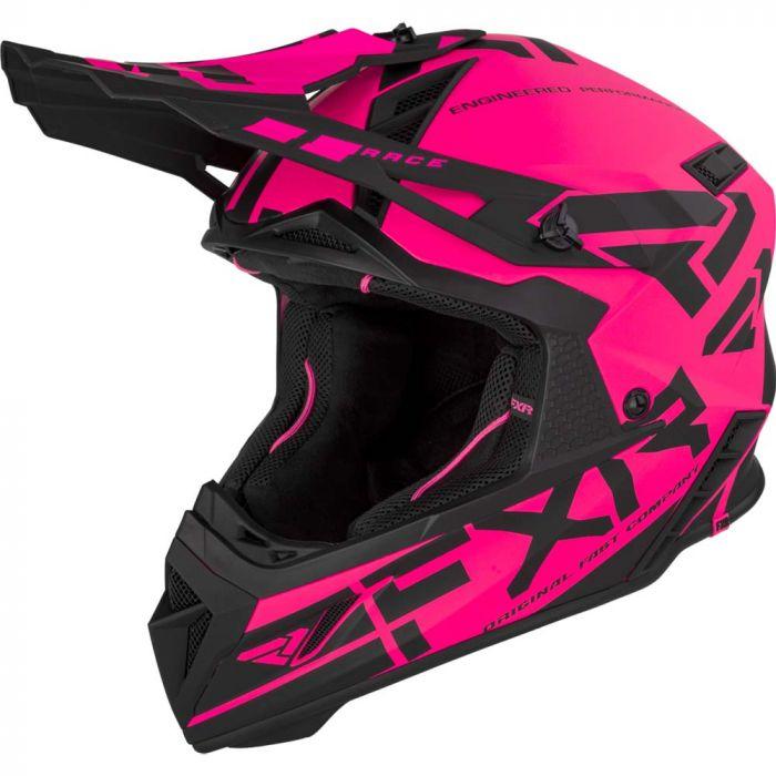FXR Helium Race Div Hjälm 21 Elec Pink