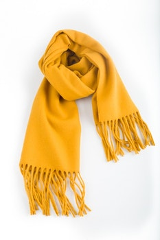 Solid Wool Scarf - Mustard