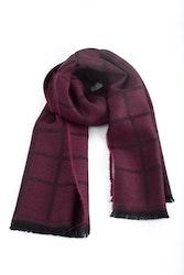 Square Wool Scarf - Burgundy