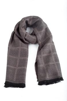 Square Wool Scarf - Beige