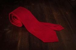 Solid Silk Grenadine Grossa Tie - Untipped - Red