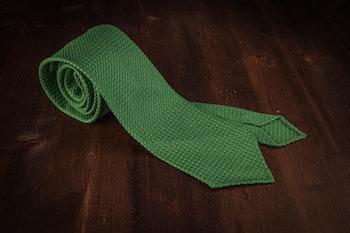 Solid Silk Grenadine Grossa Tie - Untipped - Green
