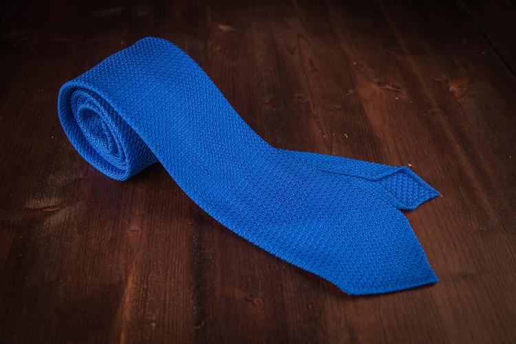 Solid Silk Grenadine Grossa Tie - Royal Blue