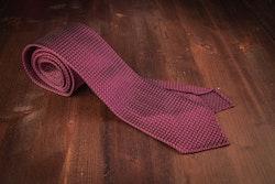 Semi Solid Silk Grenadine Grossa Tie - Untipped - Lilac/Blue