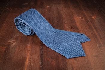 Solid Silk Grenadine Grossa Tie - Untipped - Mid Blue