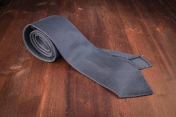 Solid Silk Grenadine Fina Tie - Untipped - Light Navy Blue