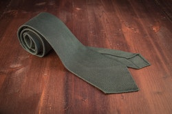 Solid Silk Grenadine Fina Tie - Untipped - Forrest Green
