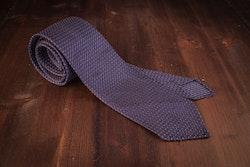 Micro Dot Silk Grenadine Tie - Untipped - Navy Blue