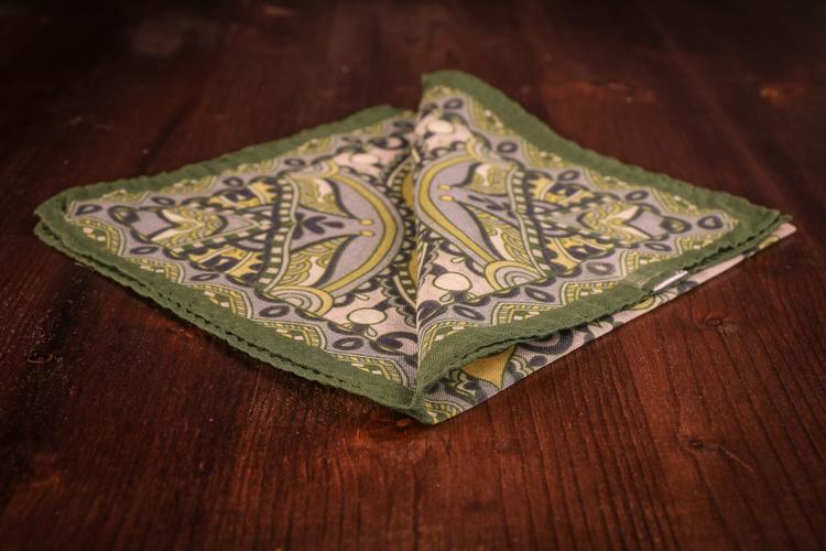 Cashmere/Cotton Floral - Green