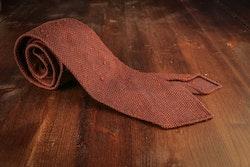 Solid Shantung Grenadine Tie - Untipped - Brown