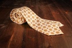 Medallion Vintage Silk Tie - Citrus Yellow