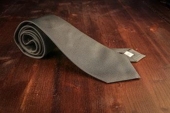 Micro Dot Silk Tie - Dark Green