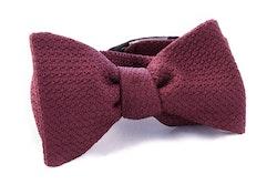 Solid Grenadine Grossa Bow Tie - Bourgogne