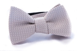 Solid Grenadine Grossa Bow Tie - Champagne