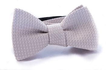 Solid Grenadine Grossa Bow Tie - Champagne